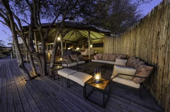 Lounge area at Kalahari Plains Camp (Central Kalahari, Botswana). For more infos please visit us: www.gondwanatoursandsafaris.com
