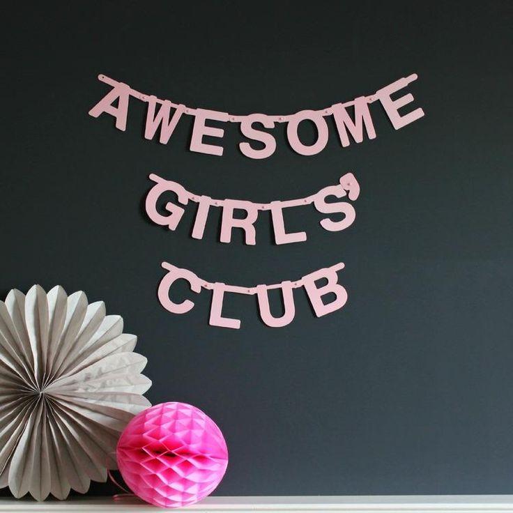DIY Letter Banner Soft Pink