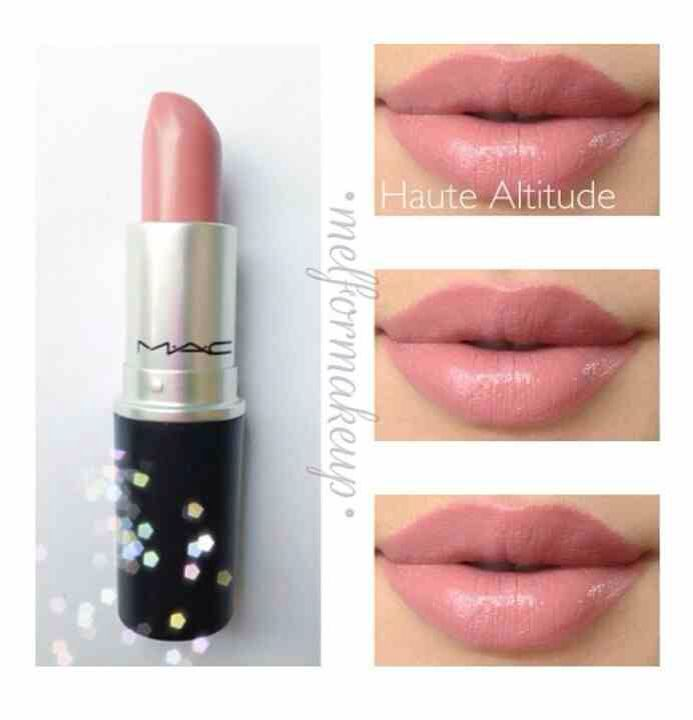 Mac!!!!!!!!!!!!!!!!!!!!!!! Cute neutral Mac lip. Lipstick that goes with every event. Prom. Wedding. School. Work. Everyday. Also for black women. I myself have the same color