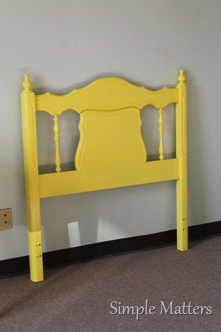 Bright Yellow Twin Headboard Headboardbed Headboardspainted