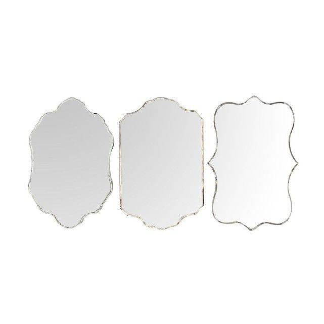 Lot de 3 miroirs vénitiens en verre découpé, de dimensions 40x50cm chacun.Matière principale : Verre Verre, métal