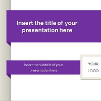 Simple Banner – Free Template for PowerPoint and Impress
