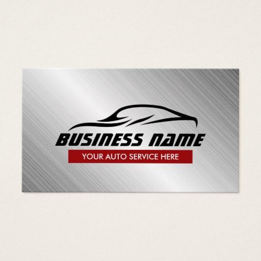 159 best automotive business cards images on pinterest lyrics auto repair cool car shape metallic automotive business card reheart Image collections