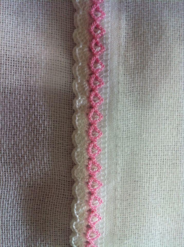 Biquinhos de crochê para fraldas e mantas por  Eliana Storniolo