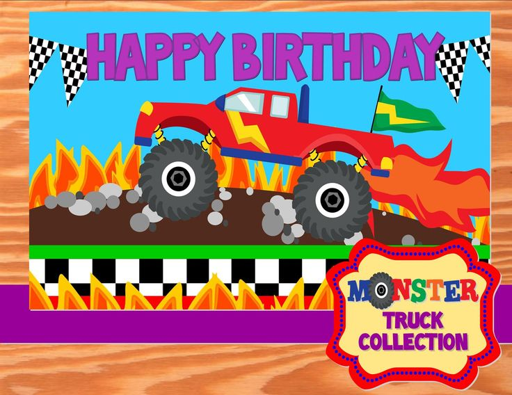 Best Monster Truck Party Images On Pinterest Birthday Party