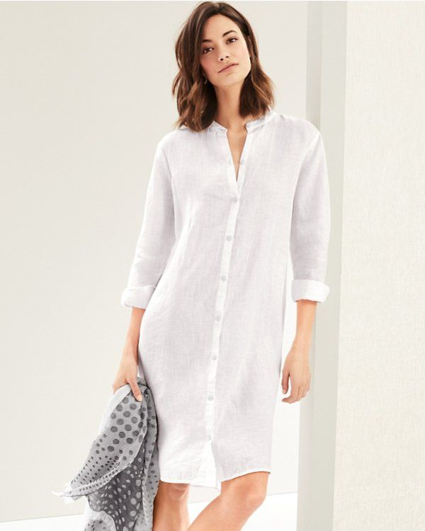 A Minimalist Shirtdress With Maximum Versatility Wear It Belted Or Left Unbuttoned Over A Tank And Short Dresses Casual Casual Dresses For Women Shirt Dress