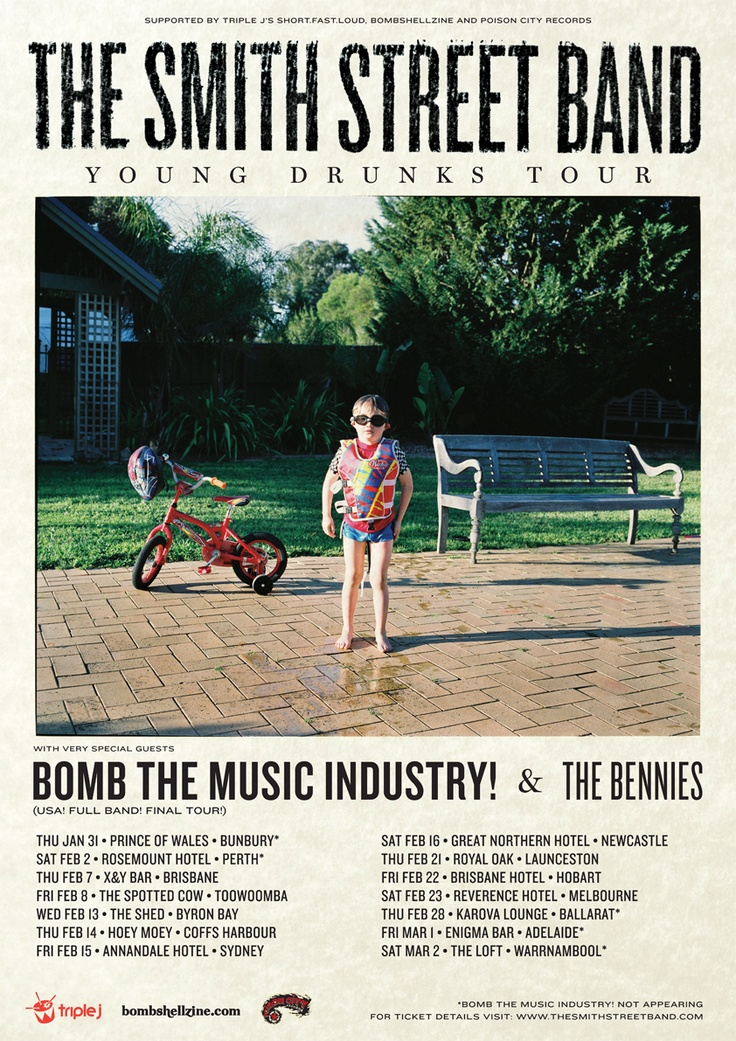 The Smith Street Band's massive national 'Young Drunks' tour