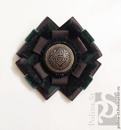 Купить брошь-орден 101 - тёмно-зелёный, коричневый, винтаж, брошь-орден, брошь, орден