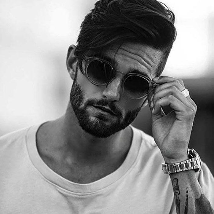 Barba Conbinada Con Cabello Semilargo Estilos De Cabello Hombre Tipos De Barba Formas De Barba