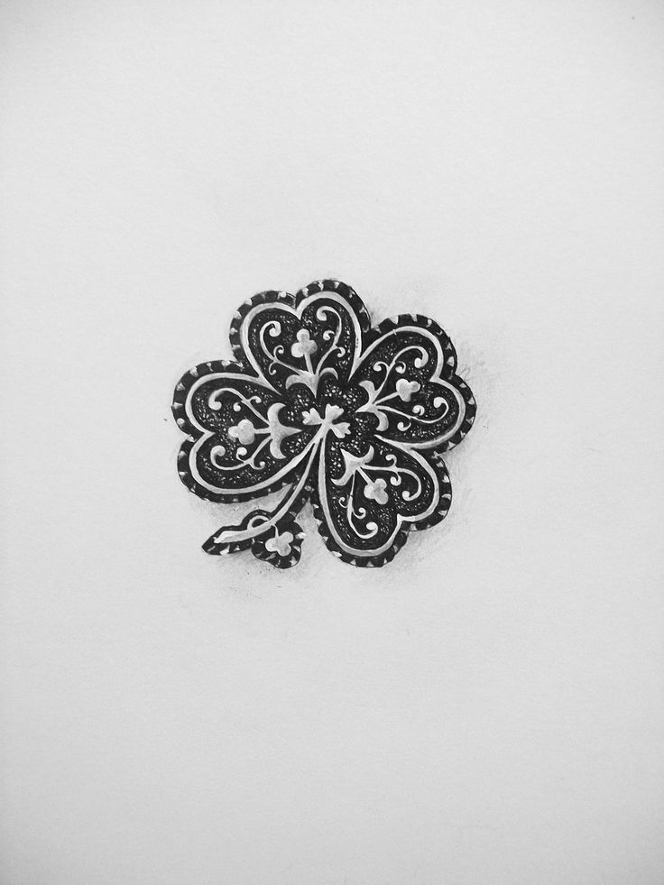Four Leaf Clover....one leaf represents life, one..love, one...faith ...and one.....hope...I plan on putting it on my side, so I always have luck on my side.......