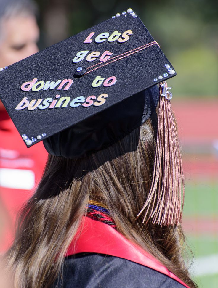 Business school grad hat
