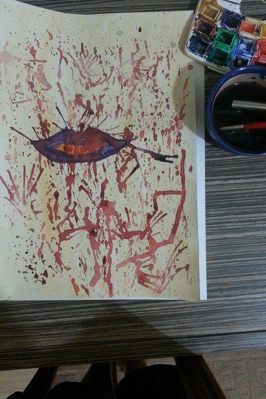 #watercolor #blood #vangogh #colors#lip #girl