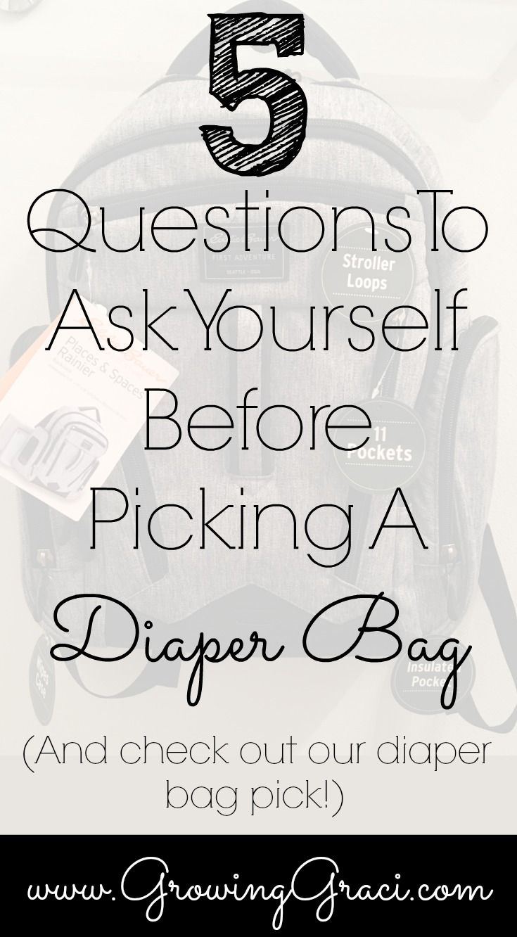 5 Questions To Ask Yourself Before Picking A Diaper Bag