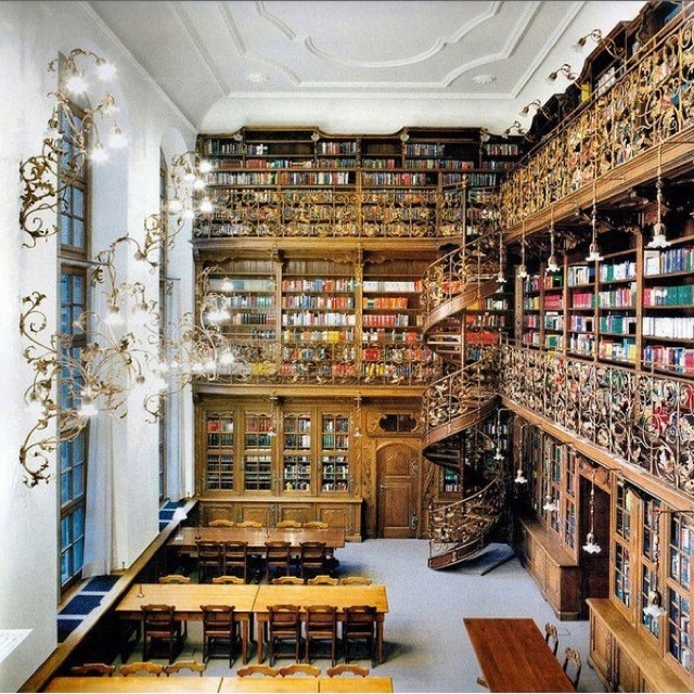 The Law Library of Munich (Juristische Bibliothek München) in Munich, Germany. It was constructed between 1867 and 1908 in Gothic Revival style.
