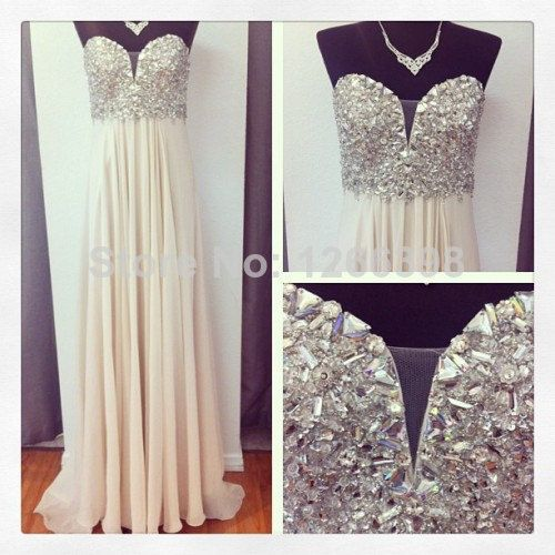 PROM dress formal wedding dress in the evening Champagne nail bead acrylic drilling  CL7829 US $119.00