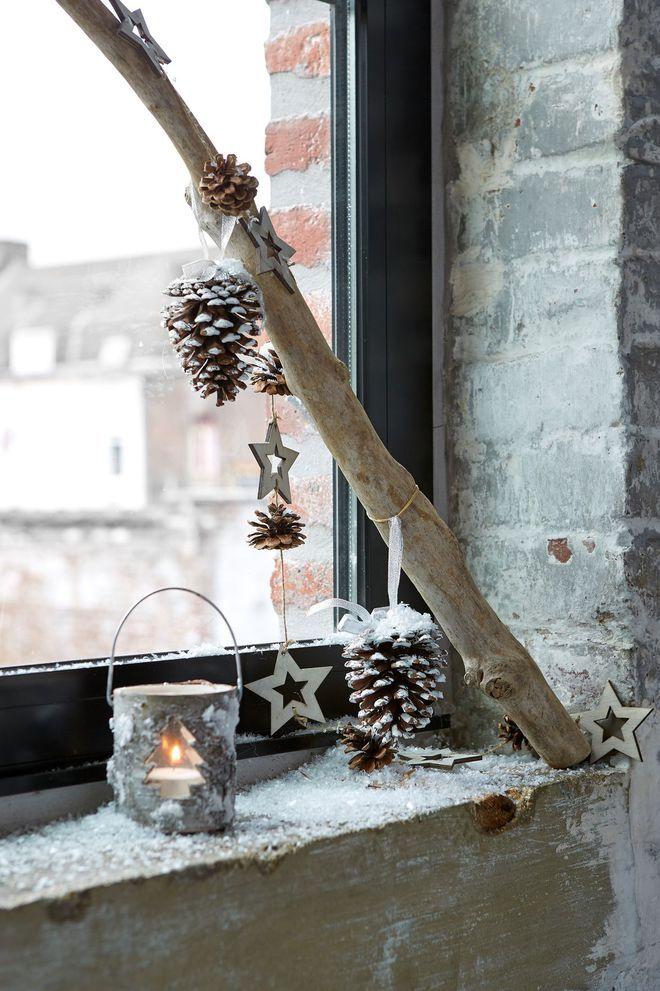 DIY Noël : habiller la fenêtre de pommes de pain