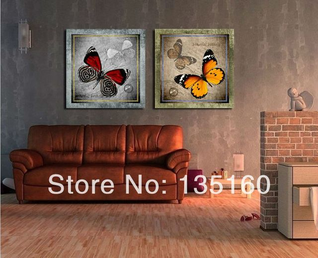 Красивые бабочки в искусстве Художественный Музей стены декоративные сочетание картины Современный дом старый дизайн комнаты декор холст 024