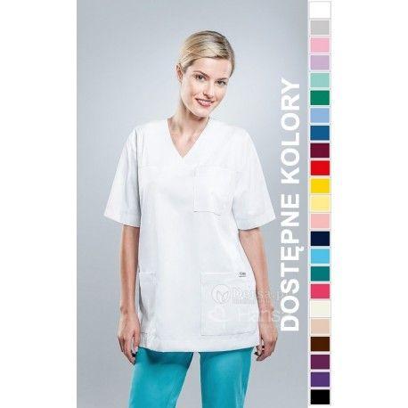 Odzież medyczna dla kobiet. | Bluza damska kolorowa 1023 - z pewnością będzie to strzał w 10-tkę dla pielęgniarek i lekarzy. | Sklep internetowy Dersa |