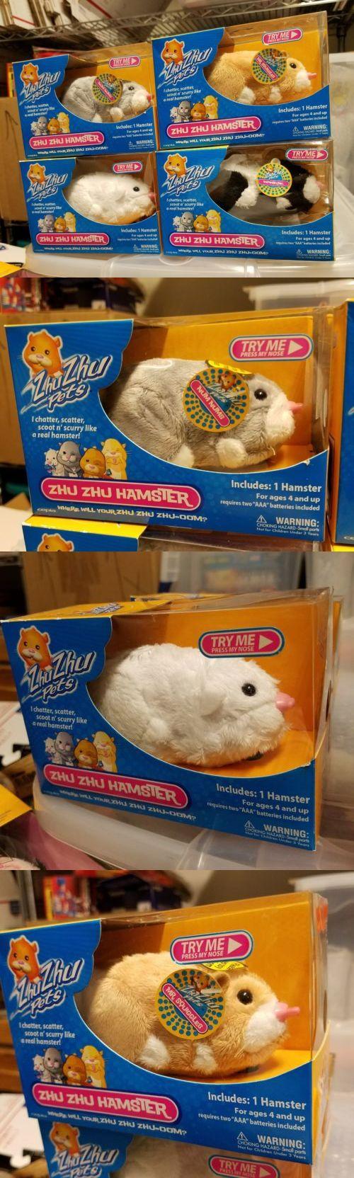 Zhu Zhu Pets 171529: 4~New Zhu Zhu Pets Hamster Chunk~Winkie~Mr.Squiggles~Num Nums Sealed (2008)Cepia -> BUY IT NOW ONLY: $34.99 on eBay!
