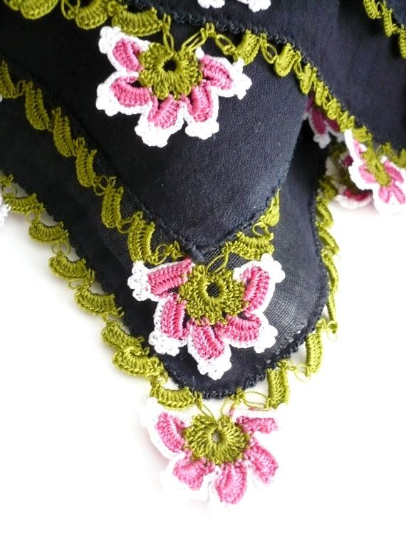 Turkish scarf with lace Turkish traditonal by TurkishAccessories