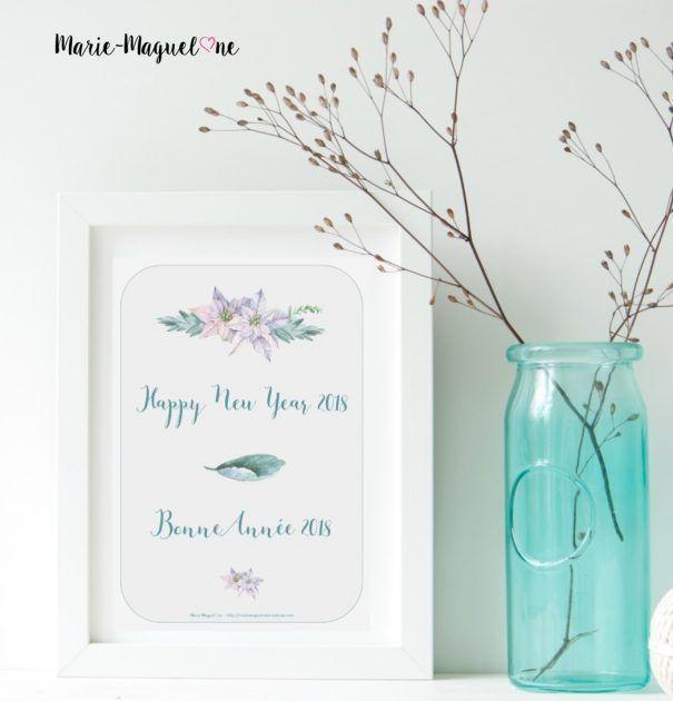 Illustration Bonne Année bleue - Marie-Maguelone