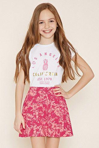 Girls Floral Skirt (Kids)