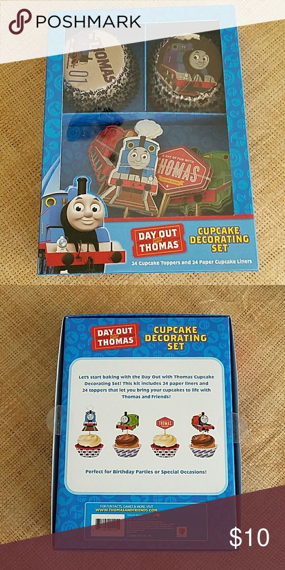 Cupcake Decorative Set Thomas the Train set; 24 cupcake toppers, 24 paper liners. Never used or opened. Thomas & Friends Other