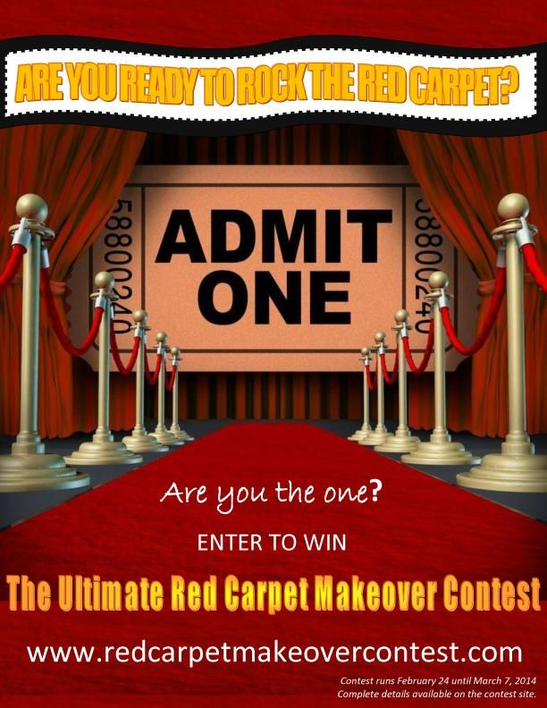 With the Oscars coming up on Sunday, have you ever dreamed of being apart of a RED CARPET MAKEOVER? Well here's your chance! Simply upload a photo of yourself and share why you should win. Then, ask your friends & family to vote for you by Friday March 7th. BONUS: Like the Makeover Team Facebook pages or follow them on Twitter to further increase your chance of winning! Good luck! Visit http://www.redcarpetmakeovercontest.com/for full details