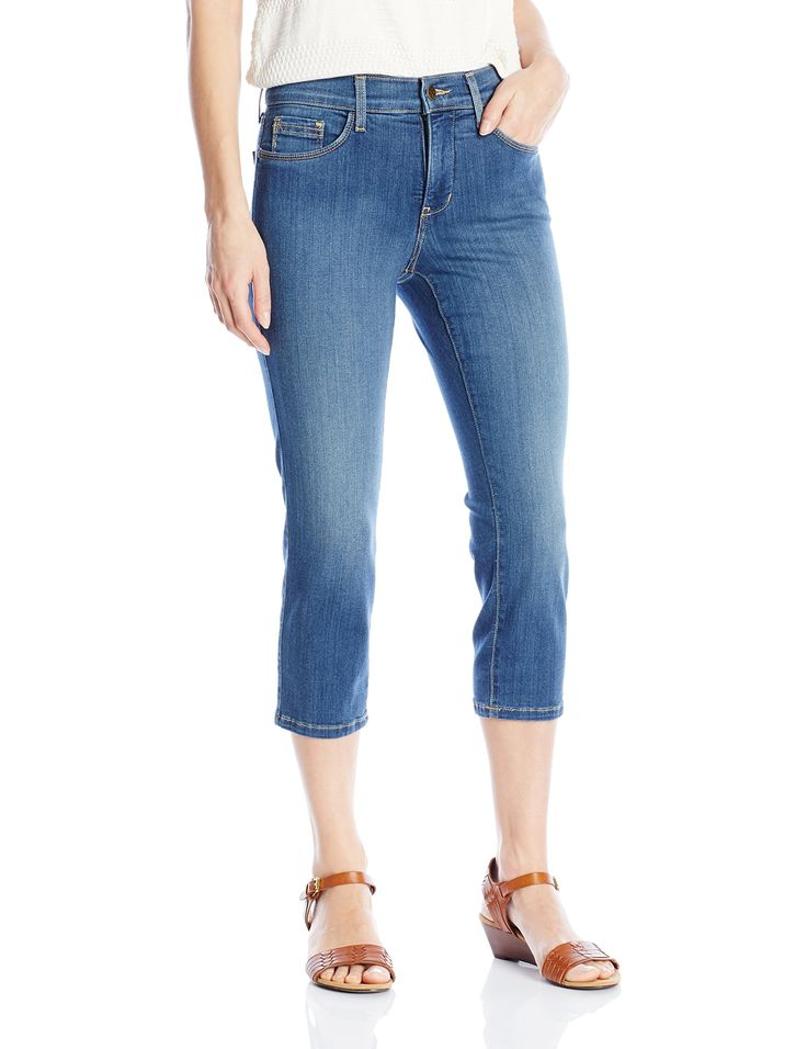 NYDJ Women's Petite Karen Capri Jeans in Sure Stretch Denim, Anderson, 10 Petite. Rise: 9.5 , inseam: 21.5 , leg opening: 13.5. NYDJ exclusive lift tuck technology slims from within to make you look and feel amazing. For best fit results please select one size smaller.
