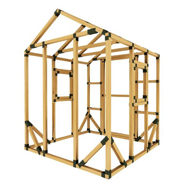 Featured Here Is The 6x6 Playhouse With Two Window Kits Frame Brackets Make It Easy For Anyone To Assemble A St Diy Storage Shed Storage Shed Kits Play Houses