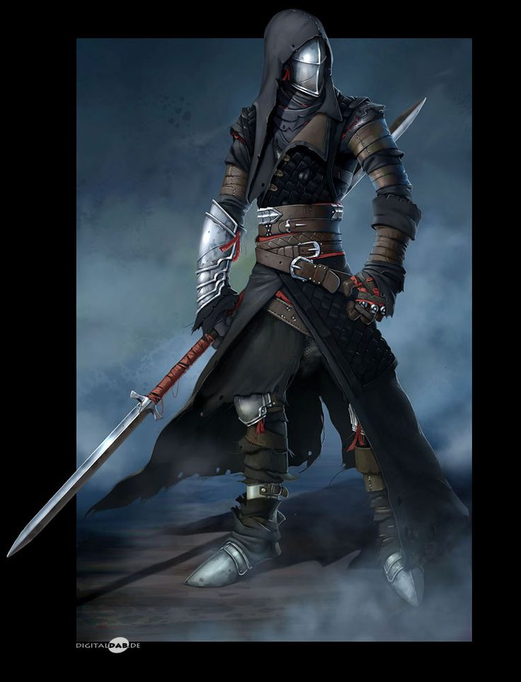 Hooded Knight, Michael Lueckhof on ArtStation at https://www.artstation.com/artwork/GmLzQ