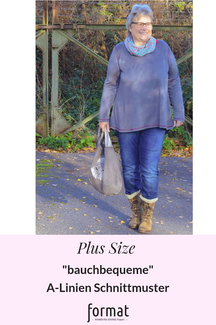Customize A-line tops for big sizes #formatnear #formatbycolormix # plussify # stitch