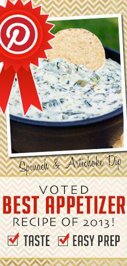 Best Appetizer Recipe: Spinach and Artichoke Dip