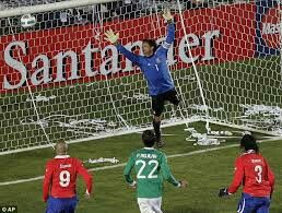 Chile 2 Mexico 1 in 2011 in Copa America. A header from Esteban Paredes makes it 1-1 after 66 minutes in Group C at Copa America.