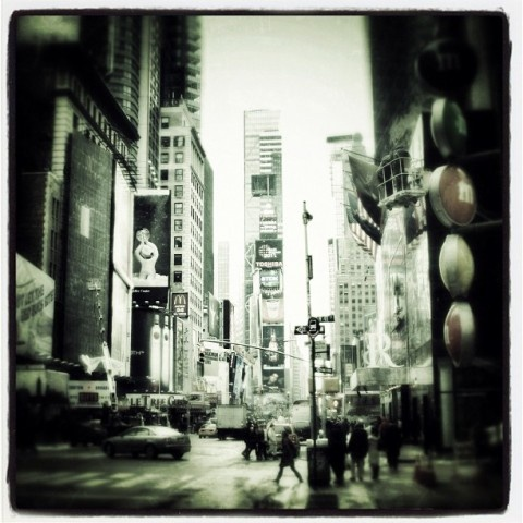 Time Square, NYC, taken with iPhone 4.