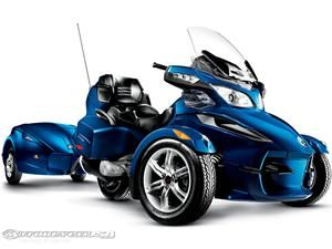 This WAS on my Bucket List to own a Can Am Spyder... My Dad just bought one of these, so I guess I don't have to now...  :)