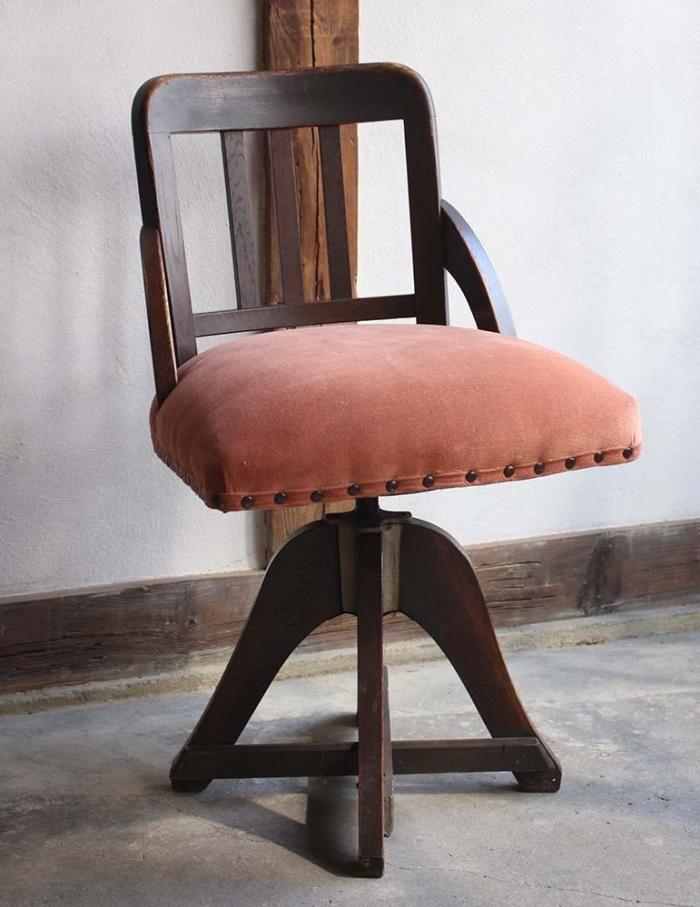 木製の回転椅子 - 古道具 和製アンティーク 古家具の通販・オンライン ...
