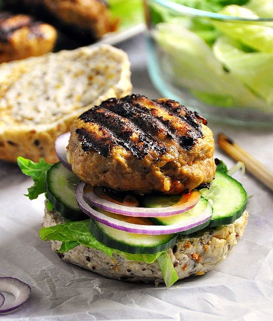 Satay Turkey Burgers by fussfreecooking #Burgers #Turkey #Satay #Asian