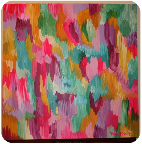 Colorful abstract DIY art - The Pink Elephant
