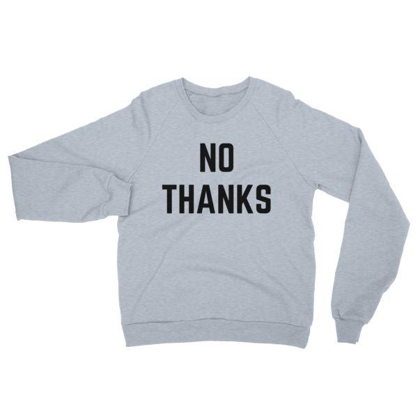 NO THANKS - Unisex Raglan pullover sweater