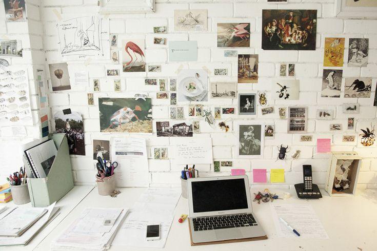 beautiful office clutter