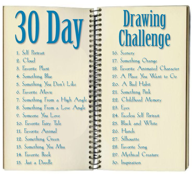 Image result for 30 day drawing challenge
