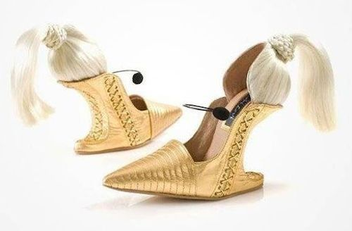 Doll Head : 15 Bizarre-Looking Shoes Nobody Should Ever Wear | TOAT