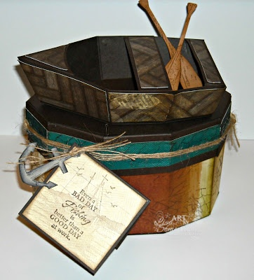 Rowboat Box Template from SVG Cuts - all stamps Our Daily Bread Designs.  Designer Lisa Somerville