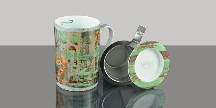 Mug Cylinder Numbers Green  Colección Mugs #Teashop
