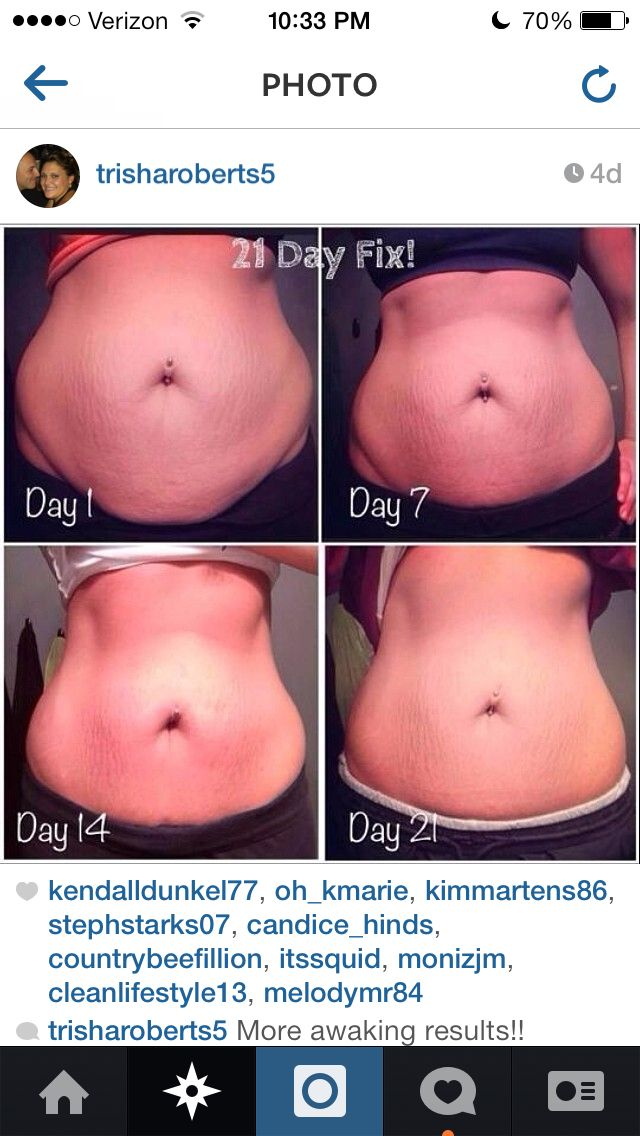 Can't wait to see results like this on my own 21 Day fix journey! If your  read… | Juicing/Clean Eating Before & After | 21 da…