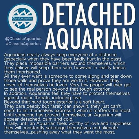 The last three lines ring truest. It's what makes for crazy if Aquarius is your love.