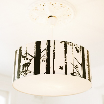 315 best new house lamp shade ideas images on pinterest ceiling dearwood pendant lamp shade deer in woods aloadofball Image collections