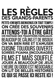 Sticker Les règles des grands-parents - Noir