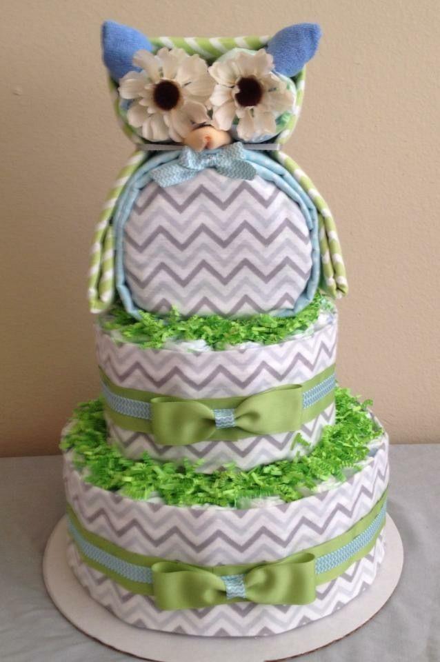 Owl Diaper Cake Owl Diaper Cakes Baby Shower Diaper Cake